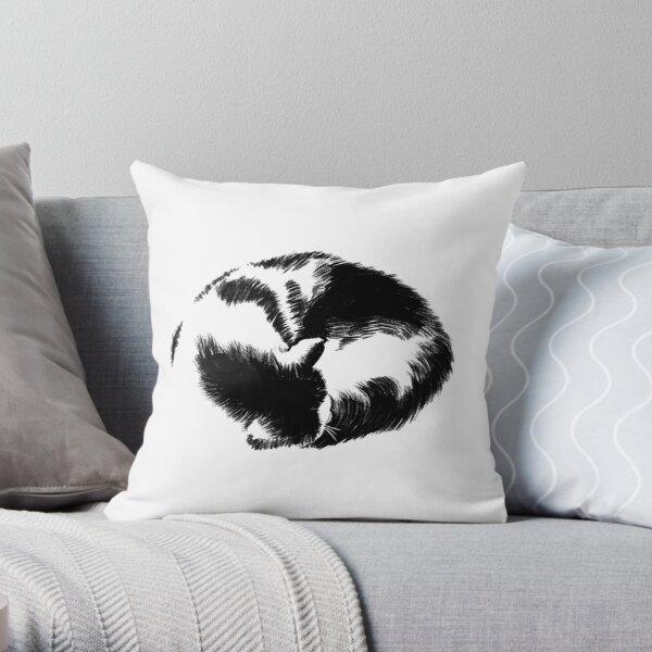 Cat Loaf Throw Pillow
