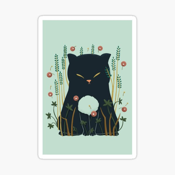 Lovely Ghost cat Sticker