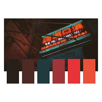 Cyberpunk Japanese Color Palette by gregGgggg