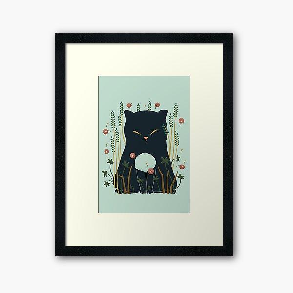 Lovely Ghost cat Framed Art Print