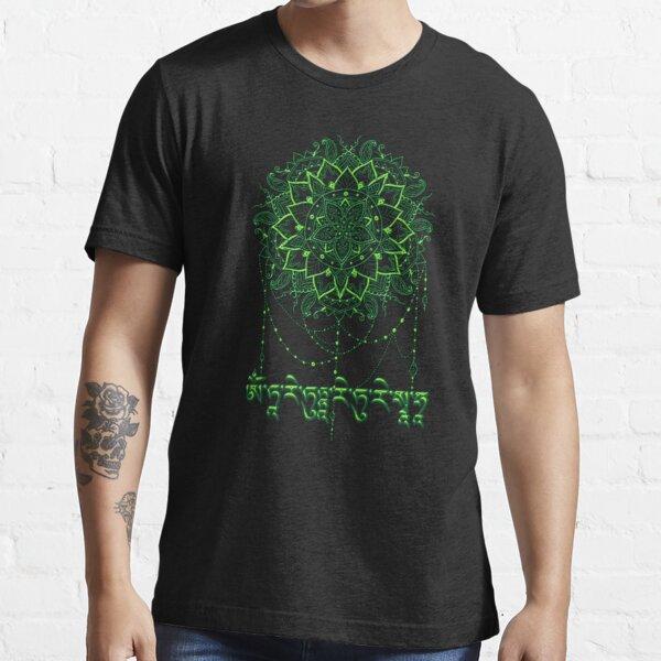 Mantra of the Green Tara with Mandala Essential T-Shirt