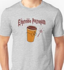 ESPRESSO PATRONUM WIZARD'S COFFEE Slim Fit T-Shirt
