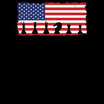 American Chess Flag V4 by TeeTimeGuys