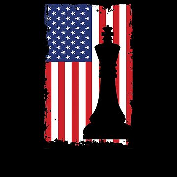 American Chess Flag V5 by TeeTimeGuys