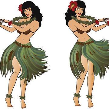 Four Hula Girls Hula Girl Dancing the Hula by azoid