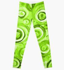 Kreise in Grün Leggings