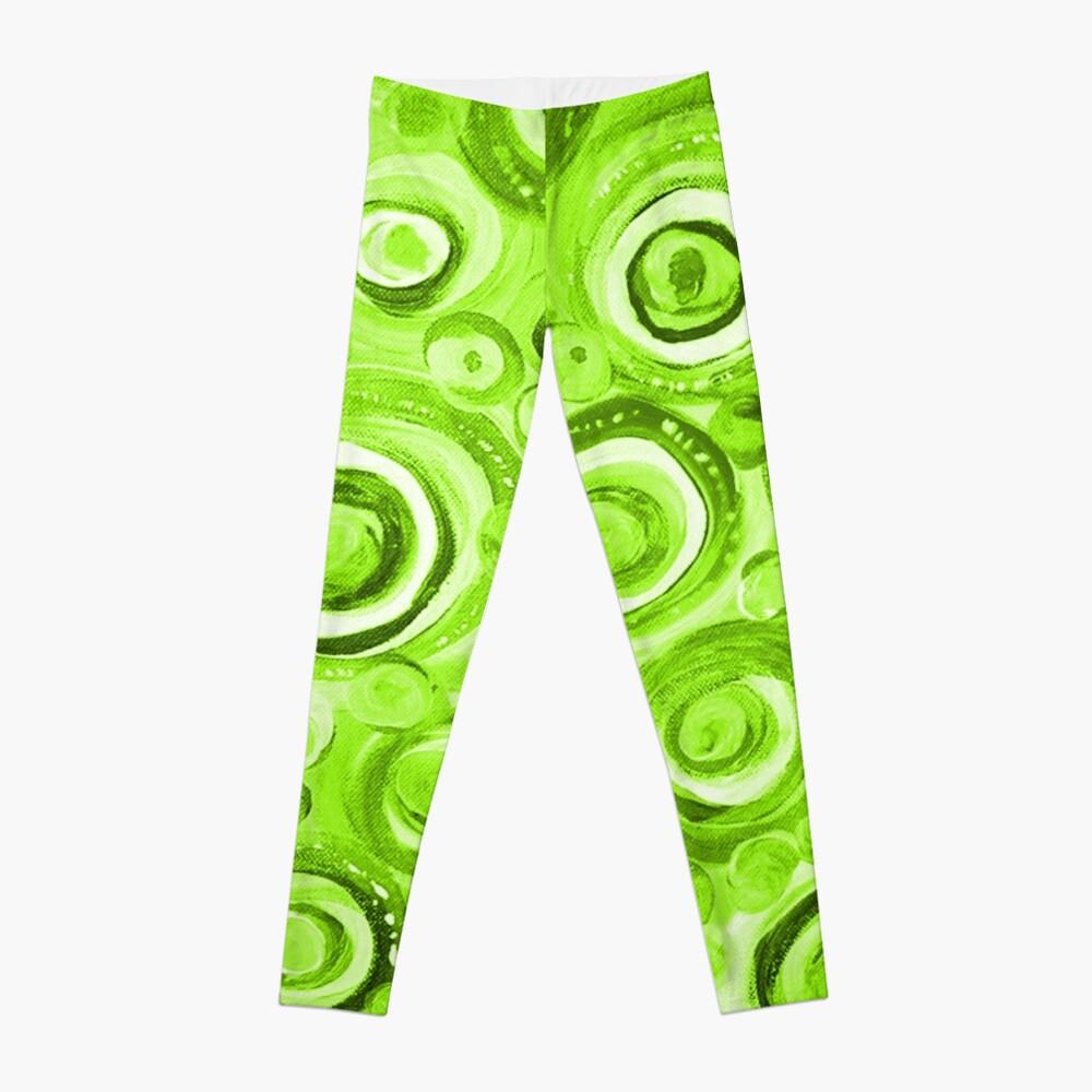 Kreise in Grün Leggings Vorne