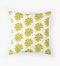 Yellow Virus Risograph Print Floor Pillow