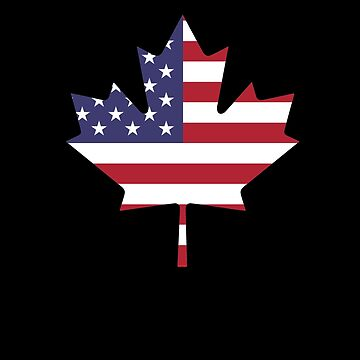 Canadian American Flag V10 by TeeTimeGuys