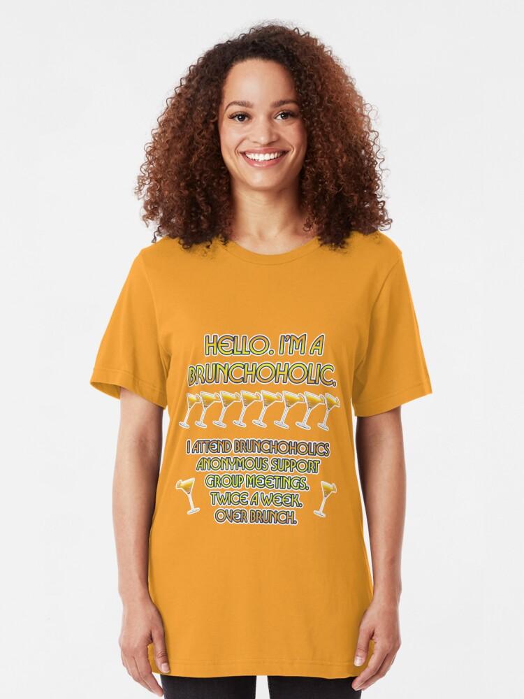 Alternate view of Brunchoholics Anonymous Slim Fit T-Shirt