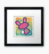 Raspberry Love Bunny Framed Print