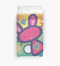 Raspberry Love Bunny Duvet Cover
