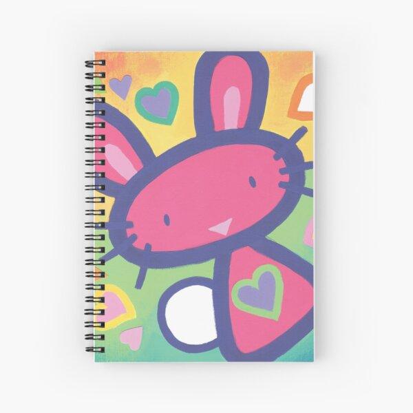 Raspberry Love Bunny Spiral Notebook