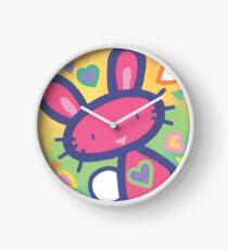 Raspberry Love Bunny Clock
