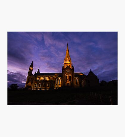 Cathedral under Purple Skies Photographic Print