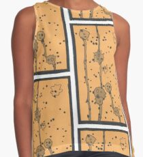 Abstract Yellow Cells Contrast Tank