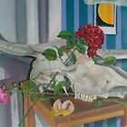 still life with roses and skull by Ben Pateman