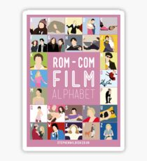 Rom Com Film Alphabet Sticker