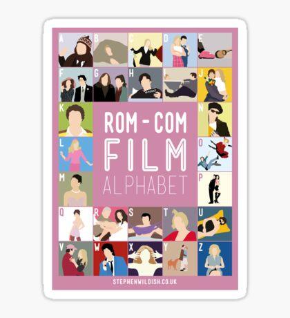 Rom Com Film Alphabet Sticker
