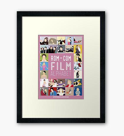 Rom Com Film Alphabet Framed Print