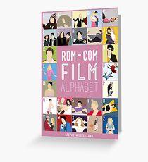 Rom Com Film Alphabet Greeting Card