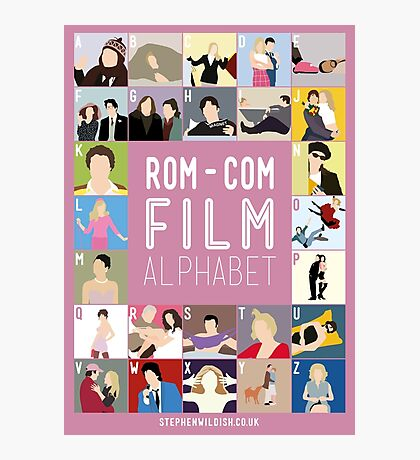 Rom Com Film Alphabet Photographic Print