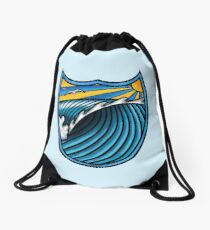 Wave Art Drawstring Bag