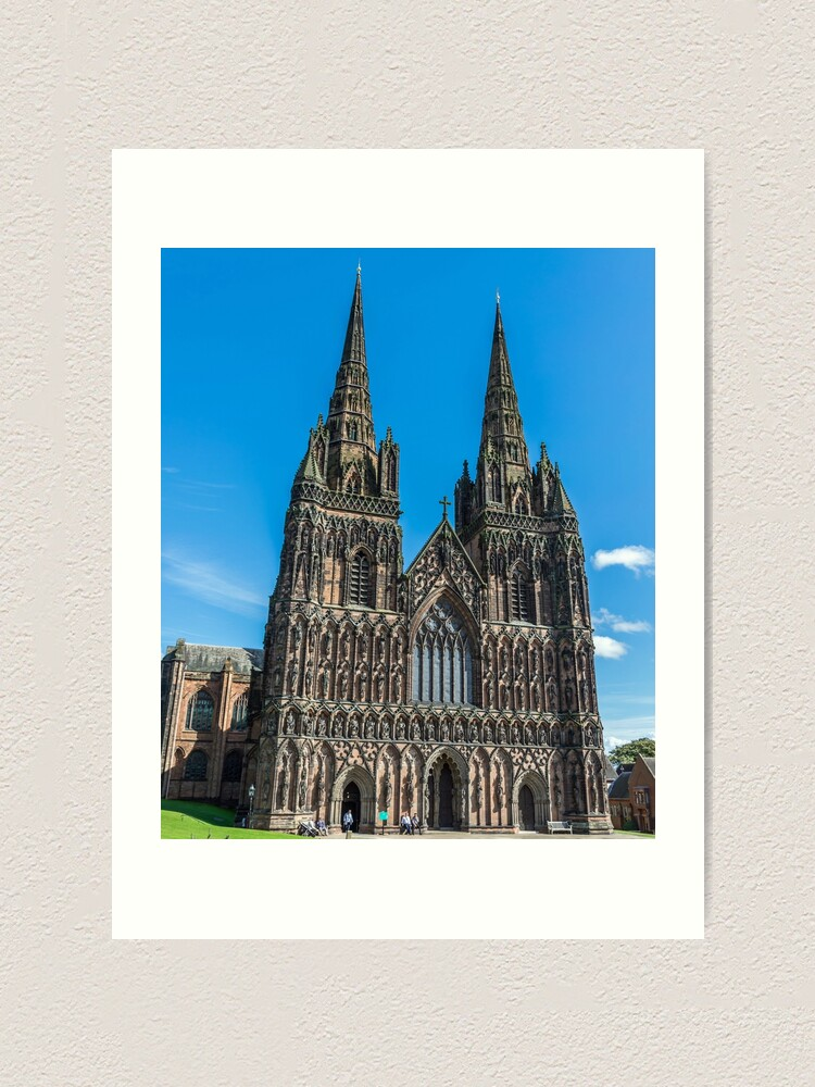 Alternate view of Lichfield Cathedral, Staffordshire Art Print