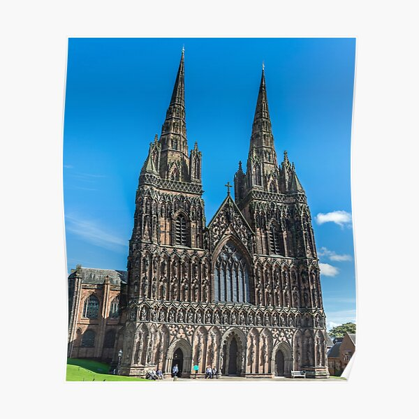 Lichfield Cathedral, Staffordshire Poster
