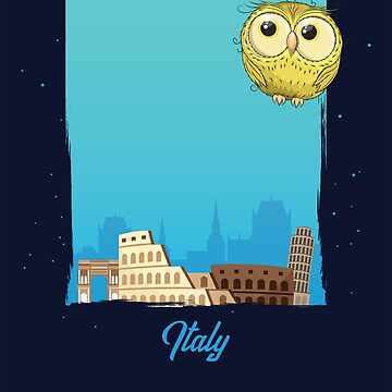 Cute Yellow Owl in Italy / Italian Scenery / Time to Travel With an Owl by ProjectX23