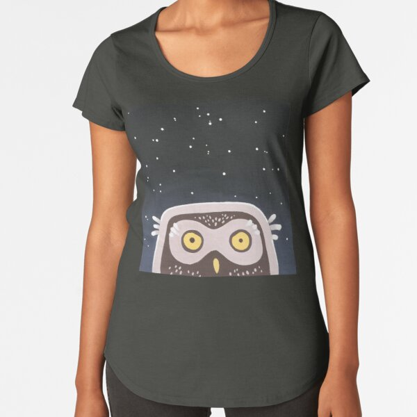 Little Owl Premium Scoop T-Shirt