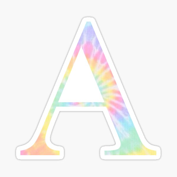 Rainbow Tie Dye A Sticker