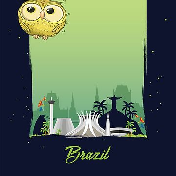 Cute Yellow Owl in Brazil / Brazilian Scenery / Time to Travel With an Owl by ProjectX23