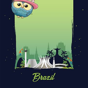 Cute Hip Hop Owl in Brazil / Brazilian Scenery / Time to Travel With an Owl by ProjectX23