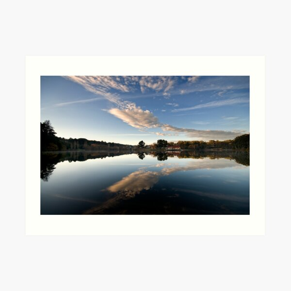 Lake reflections - Daylesford Art Print