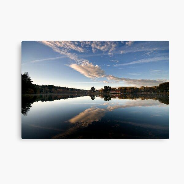 Lake reflections - Daylesford Canvas Print