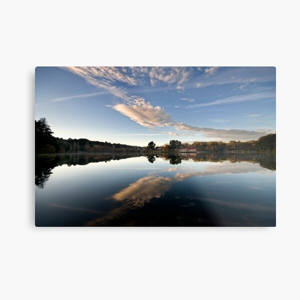 Lake reflections - Daylesford Metal Print