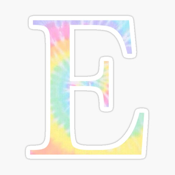 Rainbow Tie Dye E Sticker