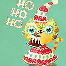 Happy Holidays Cat Santa by monikasuska