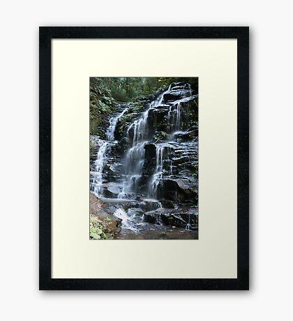Sylvia Falls - Blue Mountains - Australia Framed Print