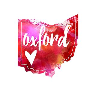 Oxford - Acuarela Corazón Ohio de gracehertlein