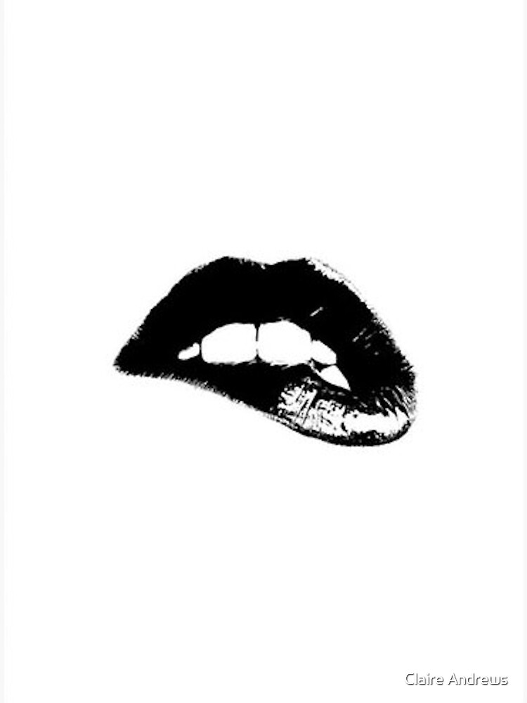 Black and White Lips Wall Decor by Claireandrewss