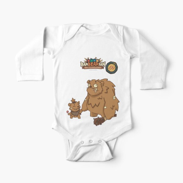Barbarian: Battlegrounds (Yellow Clan: Derpy n' Lil Bear) Long Sleeve Baby One-Piece