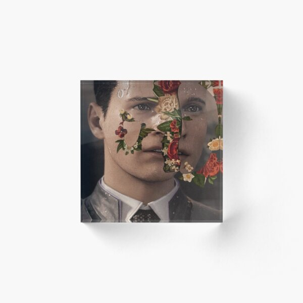 "Detroit: Become Human - Connor, Marcus, Kara - Shawn Mendes Album ""SHAWN MENDES: THE ALBUM"" Acrylic Block"
