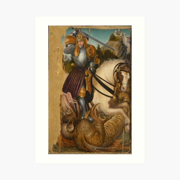 St George with Dragon Art Print