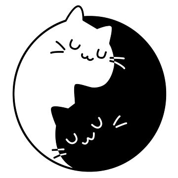Ying Yang Cats by GiggleTees