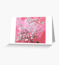 almond blossoms van gogh pink & blue Greeting Card