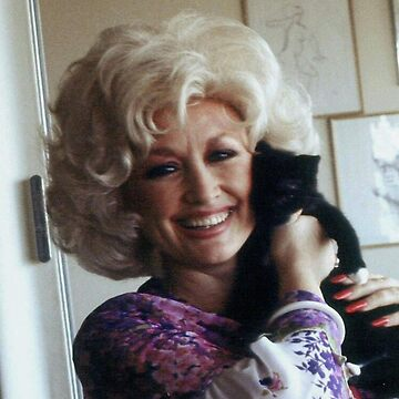 Dolly Parton with cat by nodeeperblue