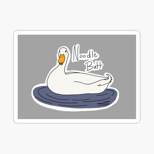 Noodle Butt (Duck) Sticker