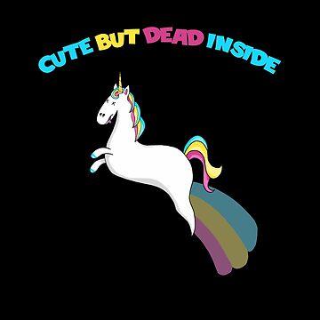Cute But Dead Inside Zombie Ghost Unicorn by fairytalelife